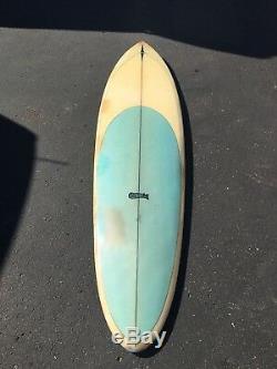 Vintage Hansen surfboard single fin