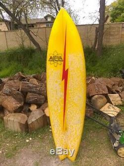 Vintage Lightning Bolt Surfboard