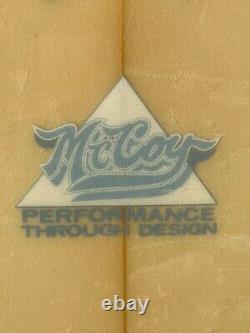 Vintage McCoy Surfboard 1980's Shaped by Greg Pautsch 5'8 Lazer Zap Thruster