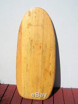 Vintage RARE balsa wood surfboard bellyboard surfing Bob Simmons longboard surf
