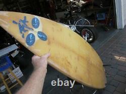 Vintage Robert August Surfboard 6' 7 Well Used