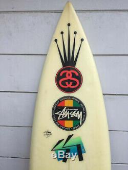 Vintage STUSSY Surfboard Tri Fin 6'6 Short Board 1980s 1990s