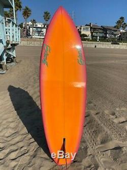 Vintage Schroff Single Fin Surfboard In Original Condition 6' Echo Beach