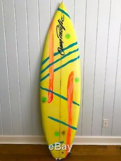 Vintage Surfboard 61 Ocean Pacific, OP, Twin Fin, Airbrush, 1980s