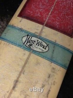 Vintage Surfboard By Rick Burhans