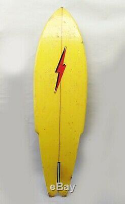 Vintage Surfboard Catri Lightening Bolt 1976 Swallow Tail 6' 1 Foam Board FL