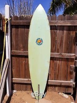Vintage Surfboard Hawaiian Island Creations Ed Angulo 6'10x 19x 3 Used AS IS