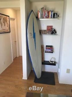 Vintage Surfboard Lighting Bolt Gerry Lopez Model 1970s Rare signed by Lopez