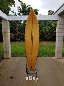 Vintage Surfboard Lighting Bolt Gerry Lopez Model Micky Munoz 1970s Rare