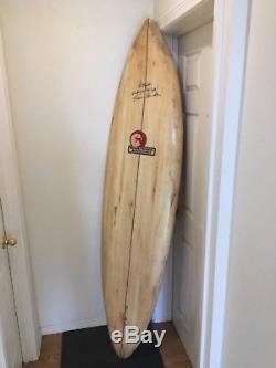 Vintage Surfboard Shawn Tomson 1977/1978 single fin Rare wood veneer