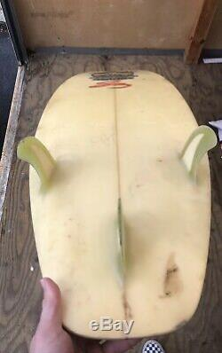 Vintage Surfboard Town & Country Christian Fletcher Pro Series T&C Astrodeck Pad