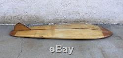 Vintage Val Surf Balsa with Redwood Body/Bellyboard Surfboard