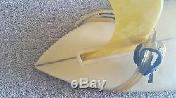 Vintage ca1967 Dewey Weber Surfboard Stylist pintail mini-gun with original fin