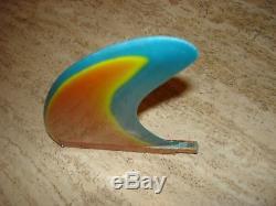 Vintage rainbow surfboard fin
