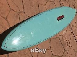 Vtg 1970s 7 7 Weber Rounded Pin Mini GUN surfboard Dewey Weber Super Clean