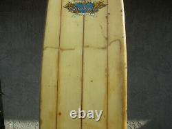 Vtg 9' Long Surf Board Robert August Minchinton Model Tri Fin Longboard FunBoard