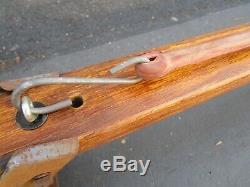 Vtg Old School Oak Roof Rack Luggage Surfboard Rat Rod VW Surf Woodie Wagon Car