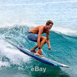 Wavestorm 8' Classic Surfboard Blue Stripe