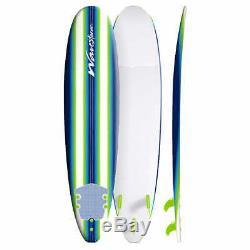 Wavestorm 8' Surfboard Blue/Green Pinline