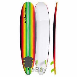 Wavestorm 8' Surfboard Rasta Pinline