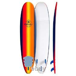 Wavestorm 8ft Classic Surfboard Navy Sunburst, Summer Ocean Surf Surfing @@