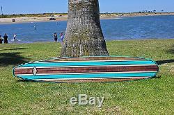 Wood Surfboard Art Bar Top Shower Vintage Hawaiian Surfboard Wall Art Surf Decor