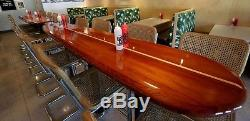 Wood wooden surfboard bar table and wall art home decor